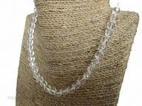 Faceted Clear Crystal Sterling Silver Necklace   Silver Sensations